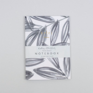Katie Housley Grey Leaves Notebook